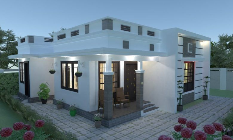 670 Sq Ft 2BHK Modern Single Storey House And Free Plan Engineering Discoveries