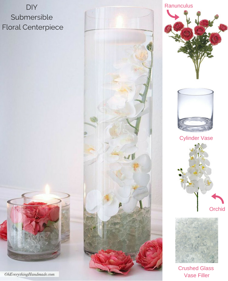 Diy Submersible Floral Centerpiece Cover The Bottom Of A Clear