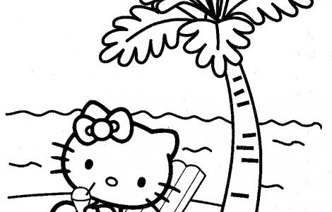 Printable beach coloring pages for kids