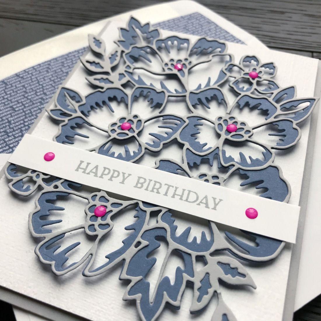 SNEAK PEEK! Blossoms In Bloom Bundle Birthday Card