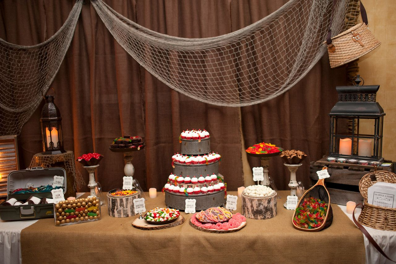 Groom S Table Fishing Theme Candy Buffet By Www Dressydesigns