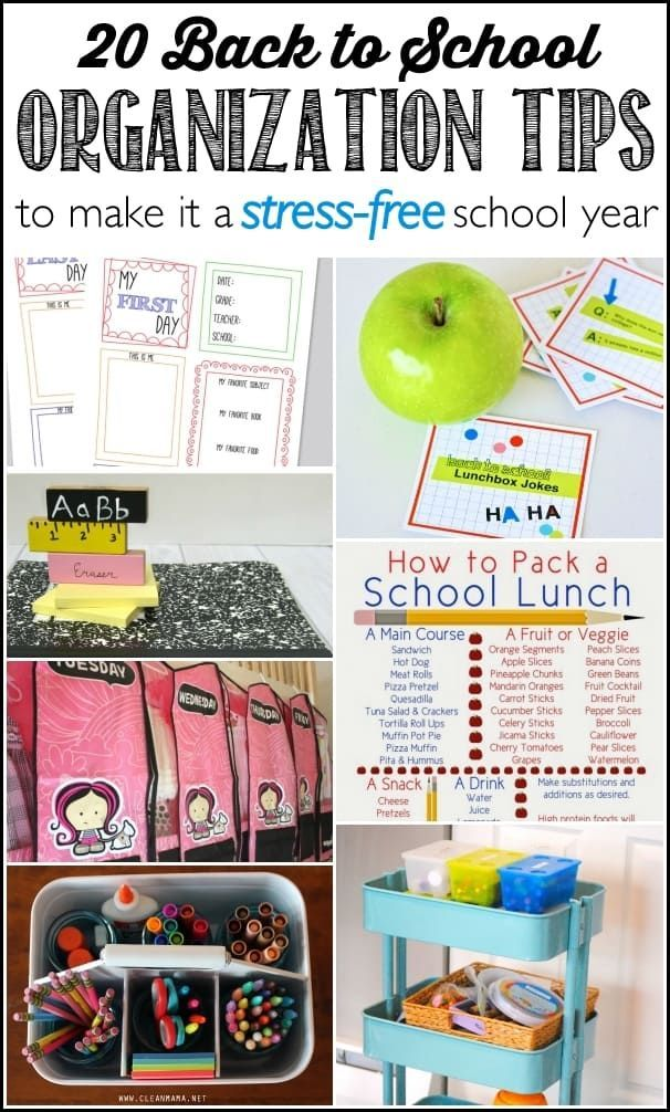 20 Back to School Organization Tips - Ask Anna