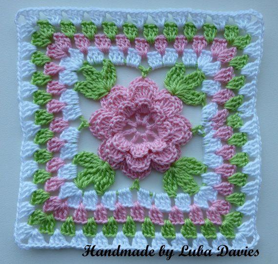 Instant Download Crochet PDF pattern Flower by LubaDaviesAtelier ...