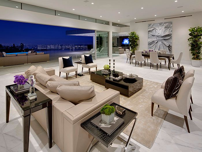 Modern Living Room In Beverly Hills Mega Mansion By McClean Design Part 42