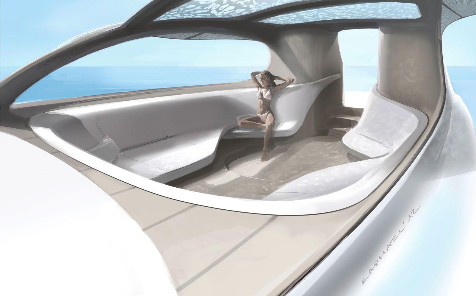 Yacht Design Jobs mercedes-benz silver arrows motor yacht interior design sketch