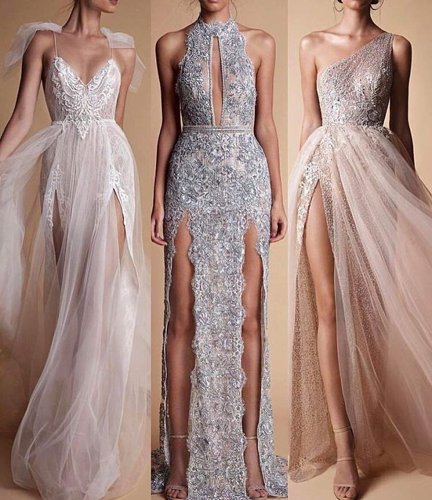 Choose your Favorite! 1 2 or 3? #Berta ⚜️✨  ---Comments below---  #gowns #dresses #beauty #tulle #sparkles #sheer #lace #weddingdress #wedding #weddinggown #couture #lace #fashion #fashionweek #fashionblogger #marsendress #promdress #promgown #eveningdress