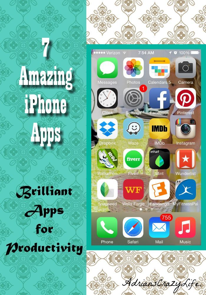 7 Amazing iPhone Apps for Productivity @AdriansCrazyLif I share my top 7 apps to get stuff done!