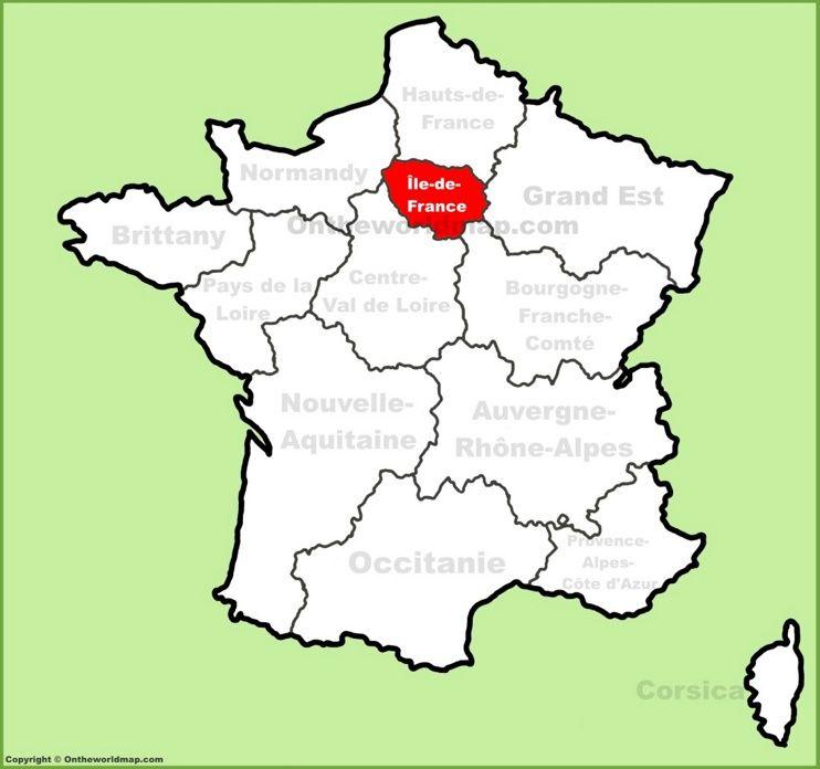 ledeFrance location on the France map Maps Pinterest Ile de