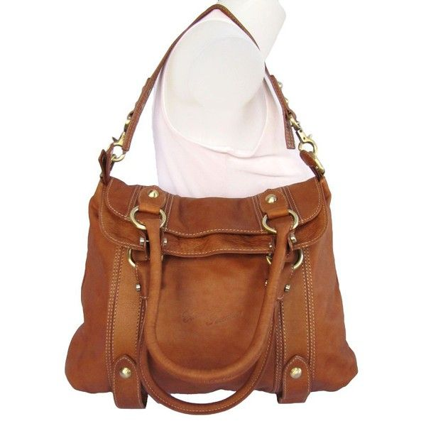 I love brown leather handbags..