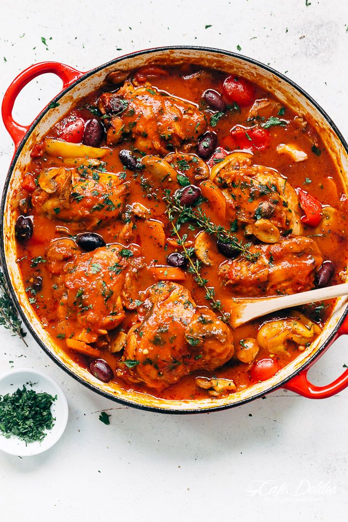 Chicken Cacciatore Slow Cooked