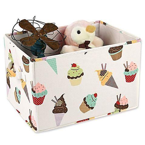 Lush Décor Cupcake Ice Cream Collapsible Storage Box (Set ...