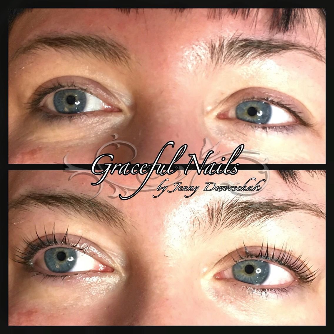 Lashlifting Wimpern ohne Verlängerung Natur | Nails Fullcover French ...