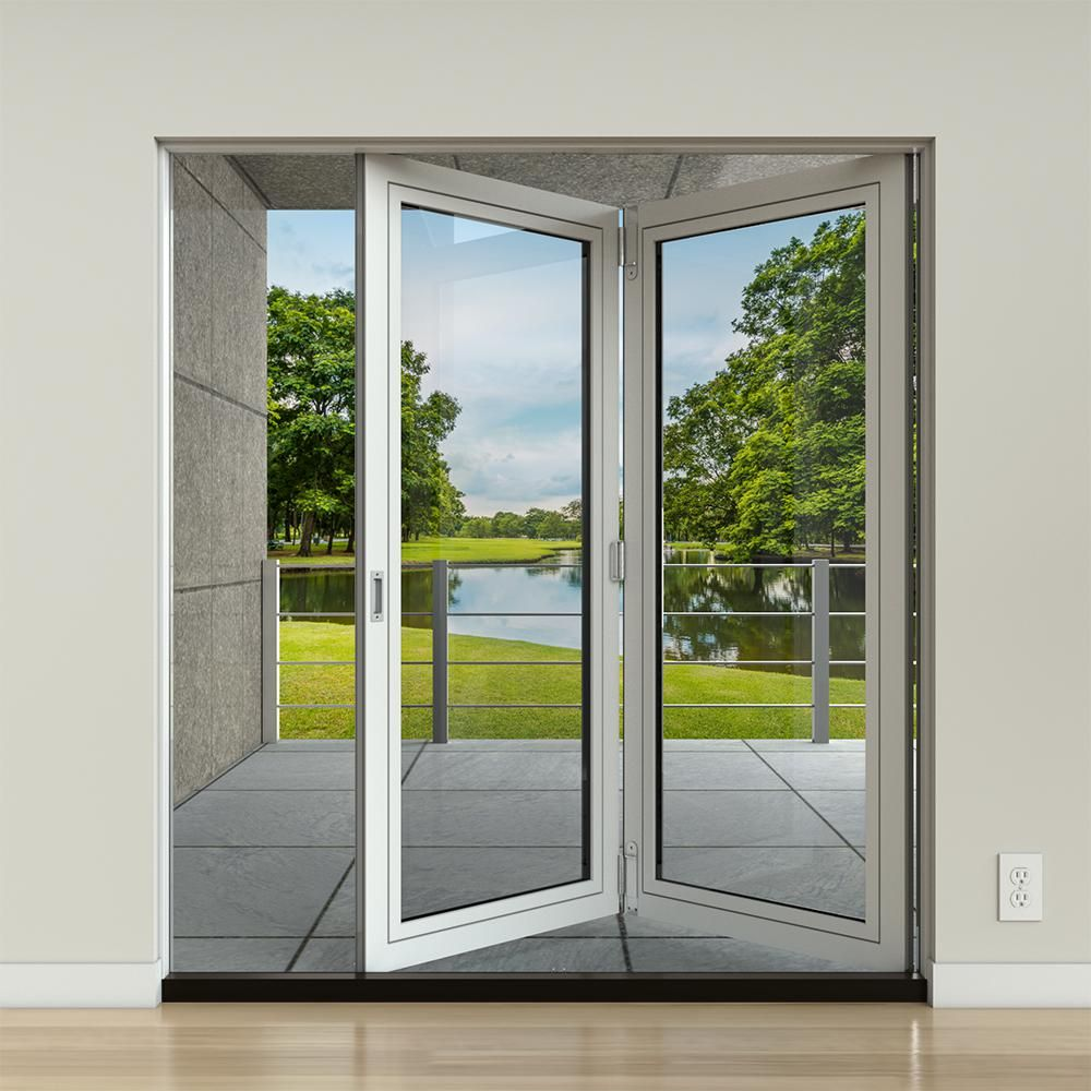 JELD-WEN 70 in. x 77 in. F-2500 LHF White Painted ...