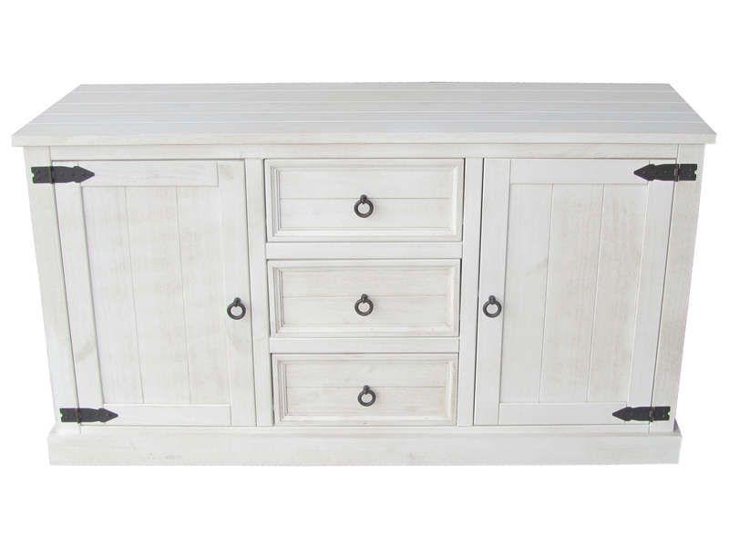 bahut 2 portes 3 tiroirs bahut conforama et pin massif. Black Bedroom Furniture Sets. Home Design Ideas