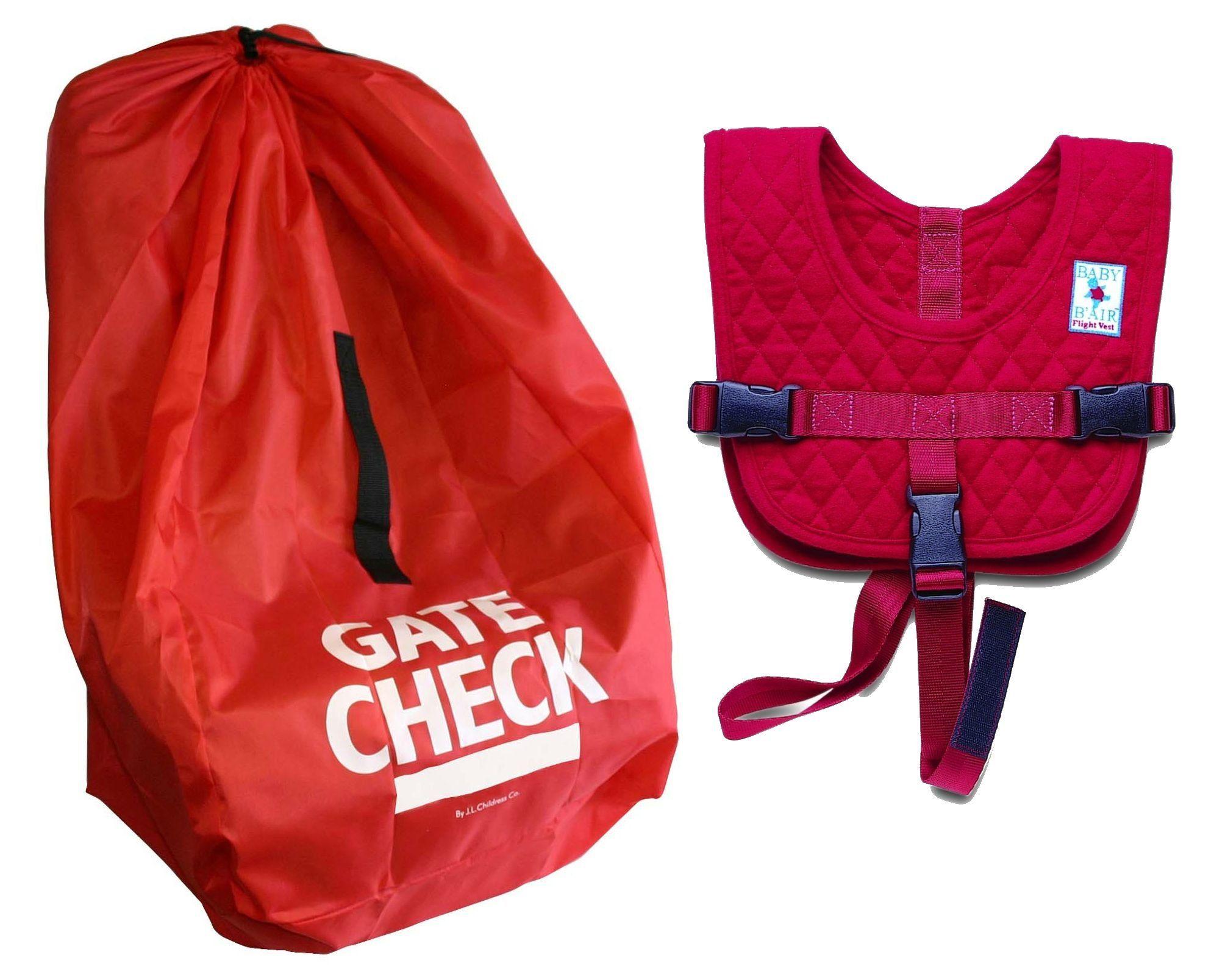 Baby BAir Infant Flight Vest With Gate Check Car Seat Bag Toddler Travel