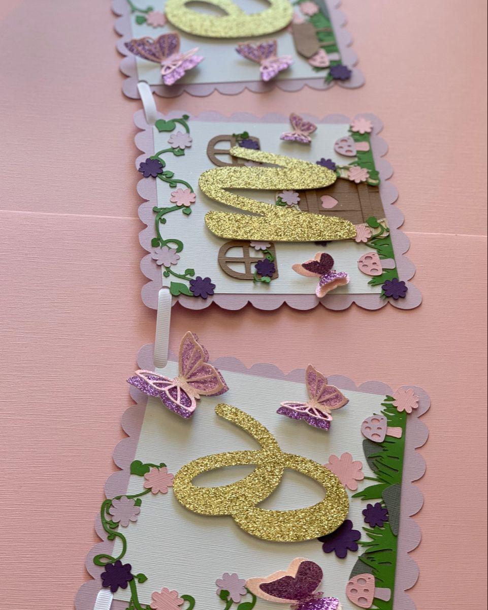 Butterfly garden high chair banner