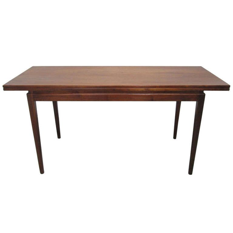 Jens risom convertible dining table or console - Console convertible table ...