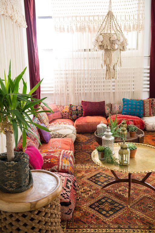 40 Boho Floor Pillow Ideas For Living Room Floor Pillows Living