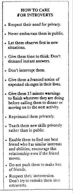 Care and feeding instructions for introverts.