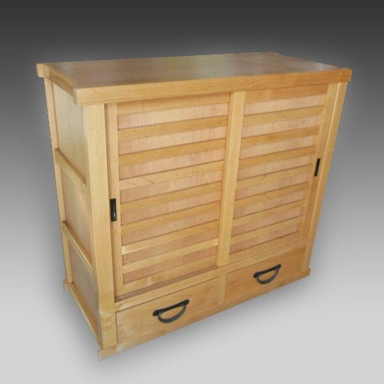 Japanese Getabako Or Shoe Tansu Are Traditionally Kept At The Entryway Of A  House To Store Shoes Removed While At Home. One Or More Sets Of Slidingu2026