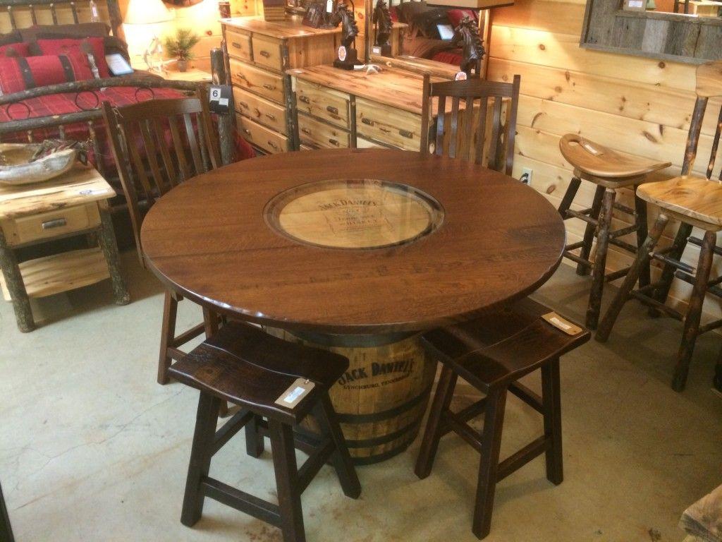 High Quality Jack Daniels Whiskey Barrel Pub Table