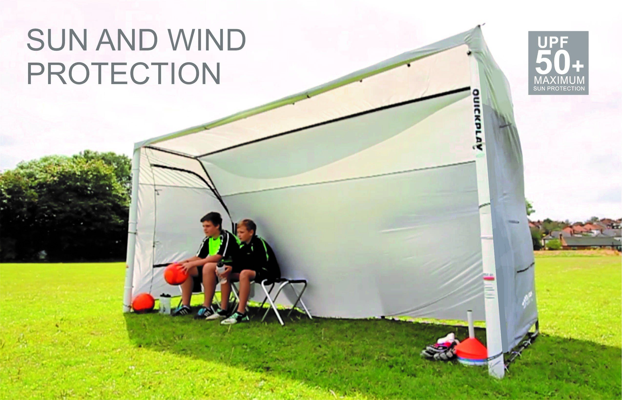 Easy Portable Shelters : Quickplay portable dugout sports shelter easy set up