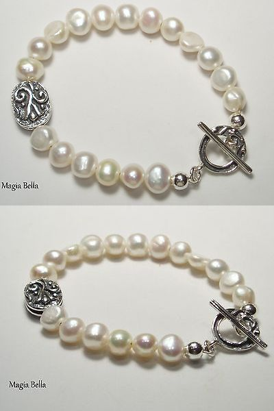 Pearl 164316: Shablool Sterling Silver And Pearl Bracelet B00706 New -> BUY IT NOW ONLY: $89 on eBay!