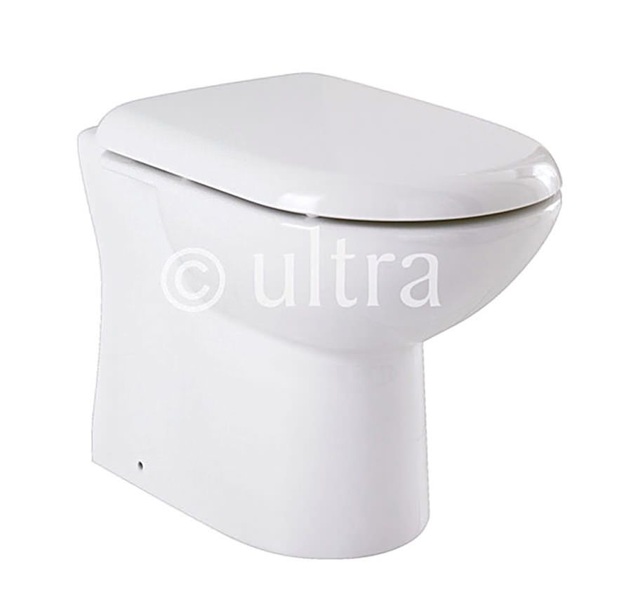 Super Ultra Back To Wall Wc Pan With Top Fix Soft Close Seat 550Mm Unemploymentrelief Wooden Chair Designs For Living Room Unemploymentrelieforg