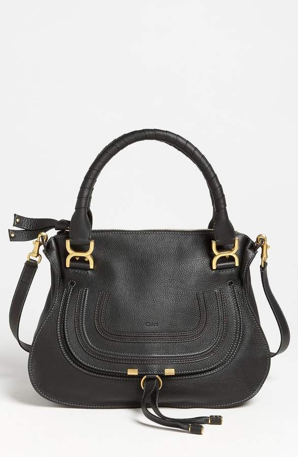 3c62c876cbcd4 Chloé  Medium Marcie  Leather Satchel   Products in 2019   Leather ...