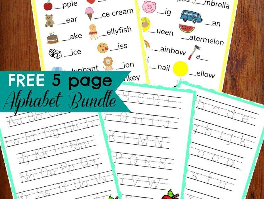 FREE Alphabet Bundle Preschool journals, Weather