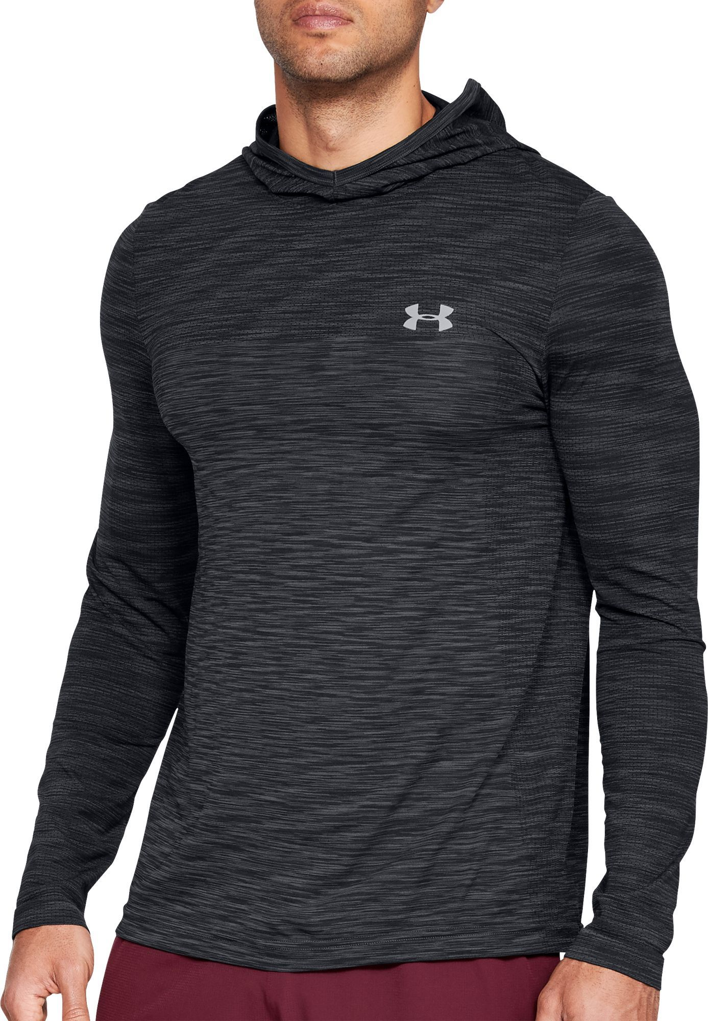 9d925f9f07 Under Armour Men's Vanish Seamless Hoodie, Size: Small, Black ...