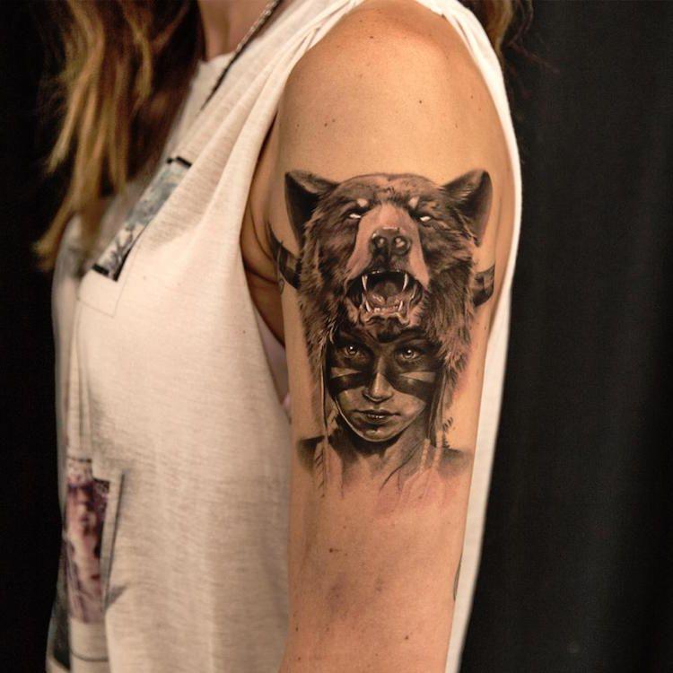 Assez Tatouage loup femme – connotations et 40 idées sur les  ND19