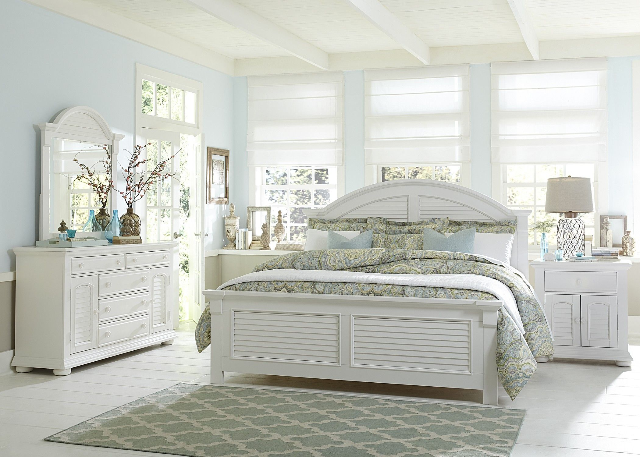 Summer House Oyster White 6PC King Bedroom Set. Summer House Oyster White 6PC King Bedroom Set   SC Home