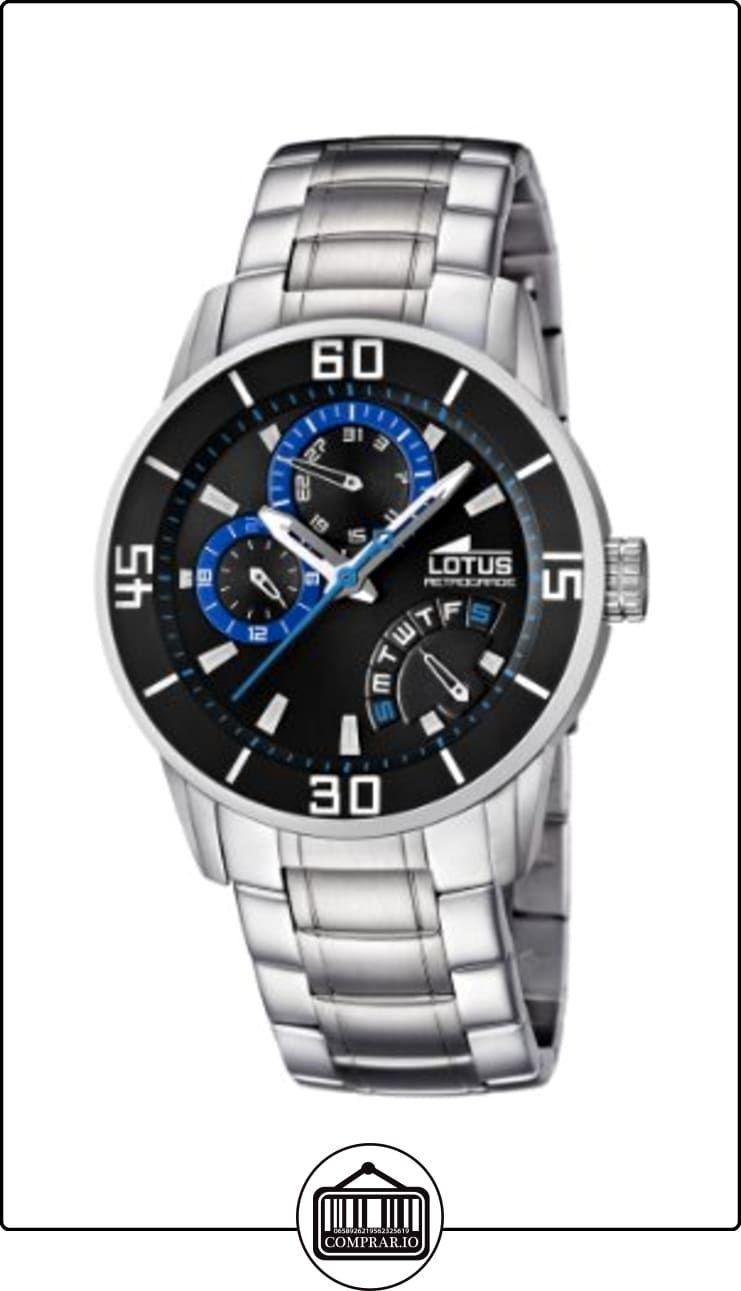 Lotus Reloj De Cuarzo Para Hombre Correa De Acero Inoxidable Color Plateado De Relojes Para Hombre Gama M Watches For Men Watches Black Leather Strap