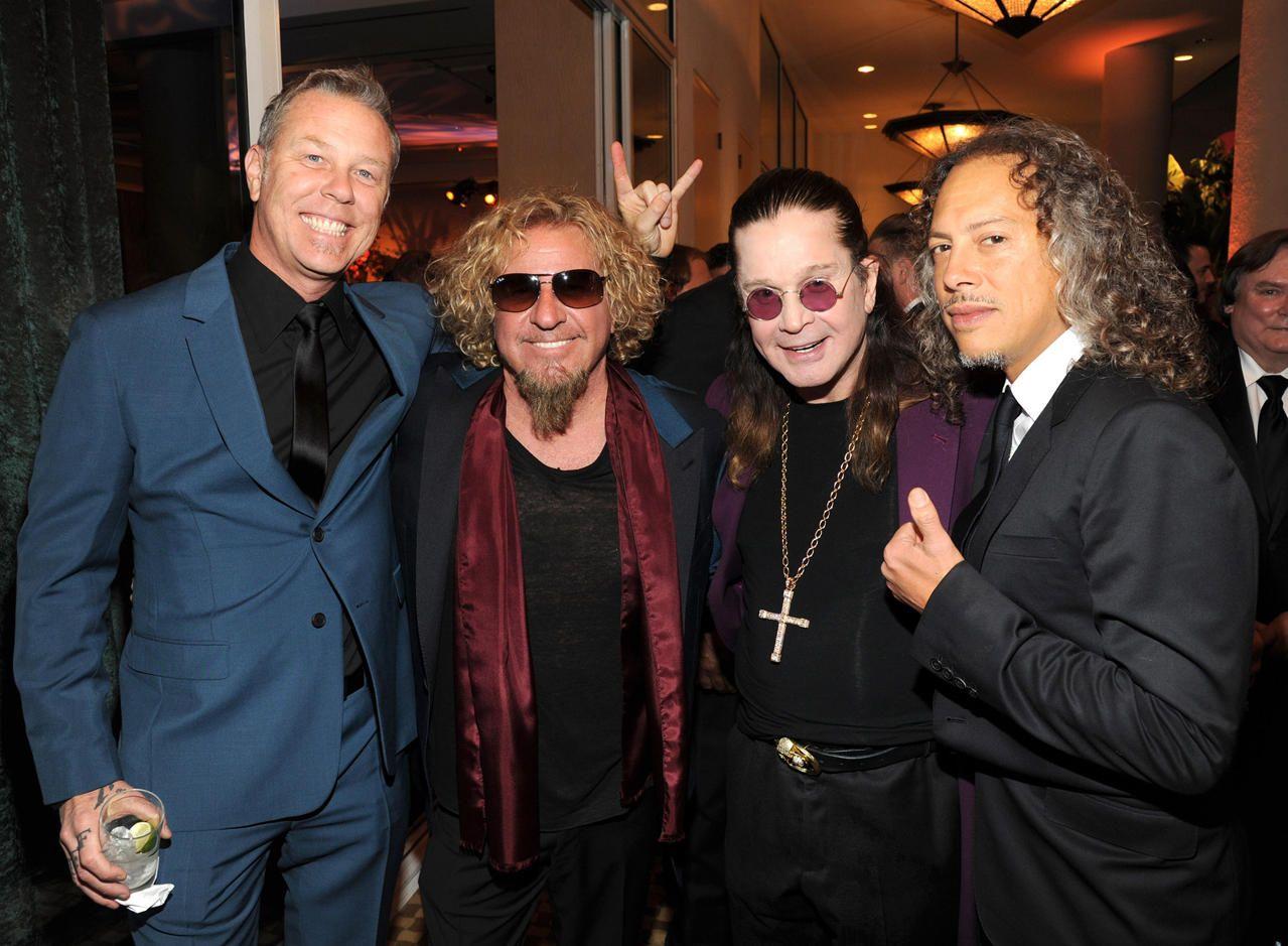 James Hetfield Sammy Hagar Ozzy Osbourne Ozzy Osbourne James Hetfield Sammy Hagar