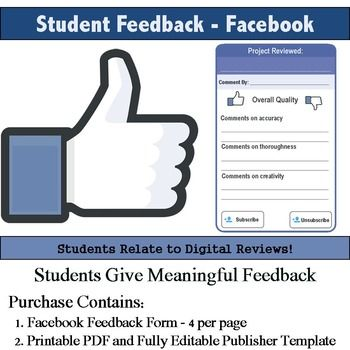 Social Media Feedback Rubric Digital review, Students and Class - student feedback form
