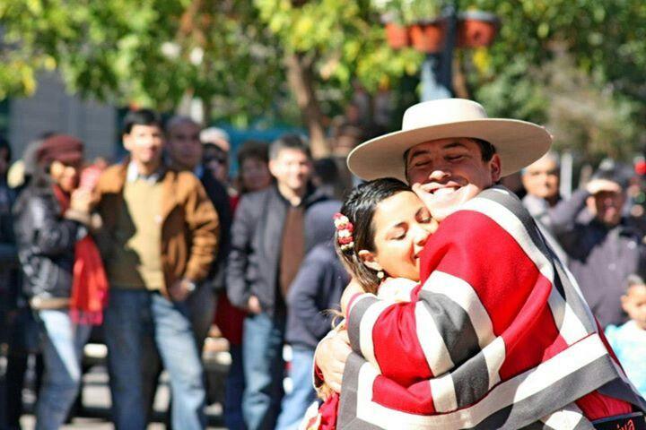 #Cueca dancers in #Santiago de #Chile