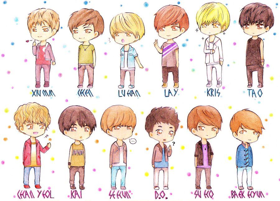 #exo #anime #cute WOW EXO IS TOO Amazing!