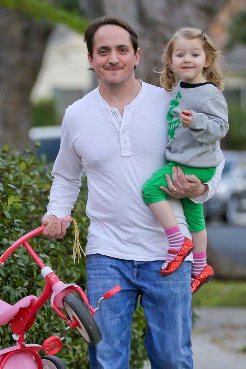 Ben Falcone With Daughter Georgette Melissa Ben Georgie
