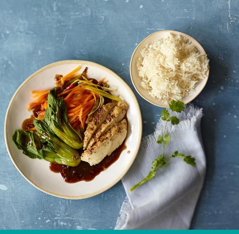 Rezept: Asiatisches Hähnchen mit Reis