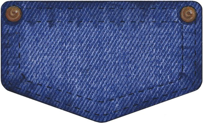 Clip Art Blue Jean Day: Denim Pocket 3