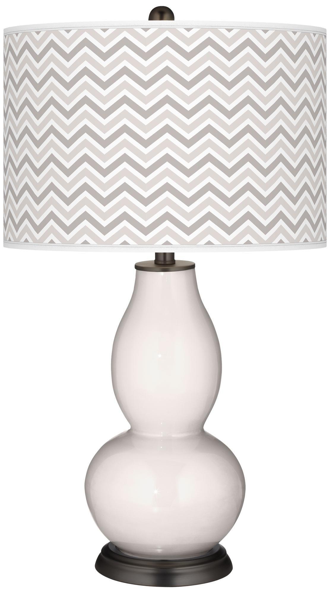 Smart White Narrow Zig Zag Double Gourd Table Lamp