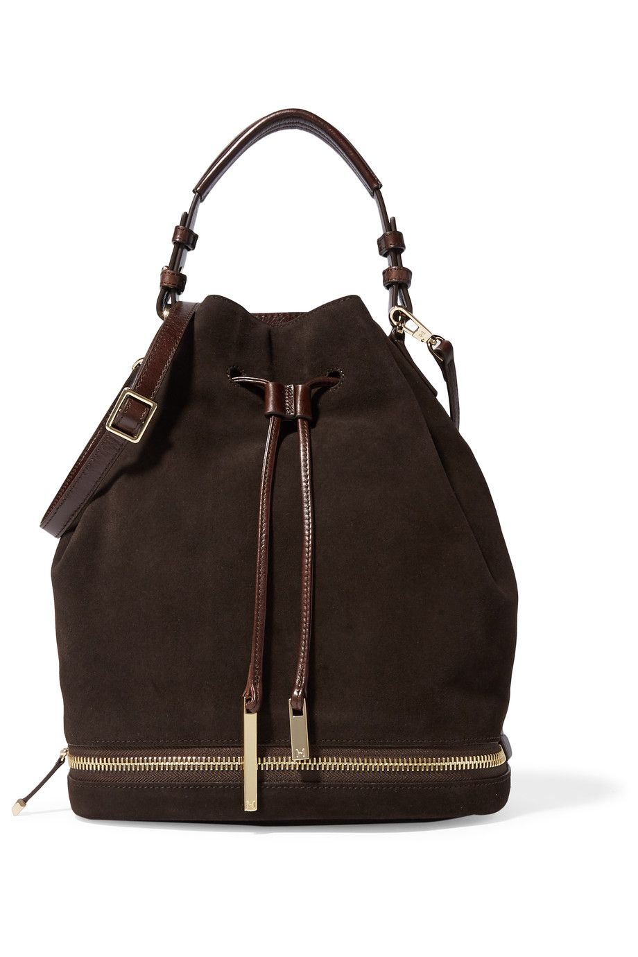 HALSTON HERITAGE Suede And Coated-Leather Shoulder Bag.  halstonheritage   bags  shoulder bags  hand bags  suede   05c6283380353