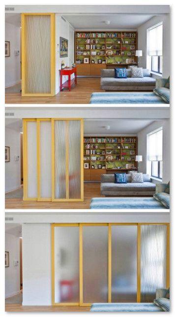 Pintu Geser Tumpuk Efisien Pada Rumah Minimalis Home Pinterest - Porte placard coulissante avec serrurier paris 4