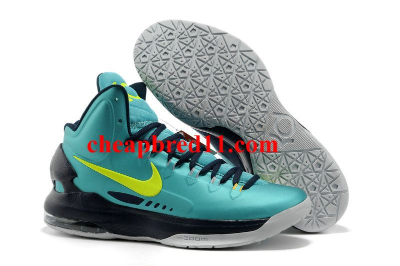 Nike KD V Turquoise DarkCyan Lime Green  f8a4459faa4b