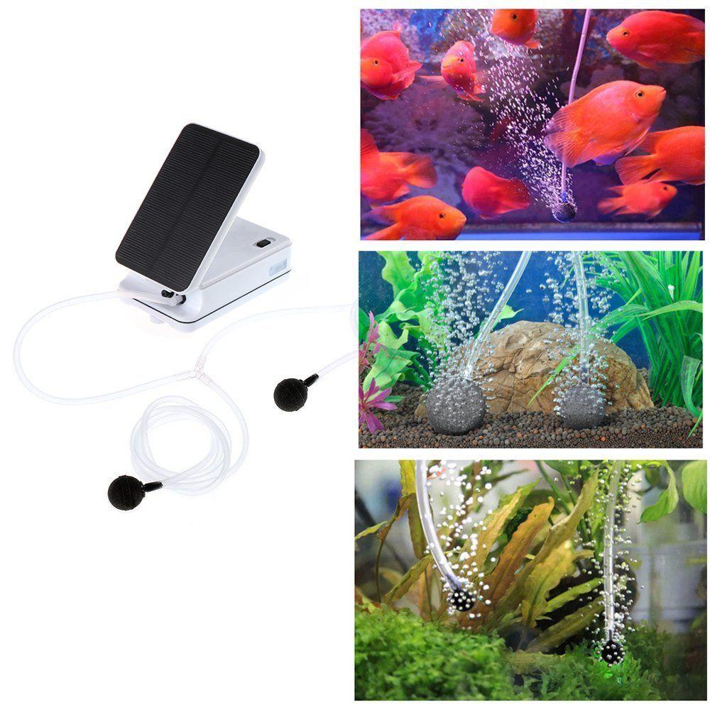 Sunsbell Air Pump Solar Kit Solar Powered Pool Pond Fish