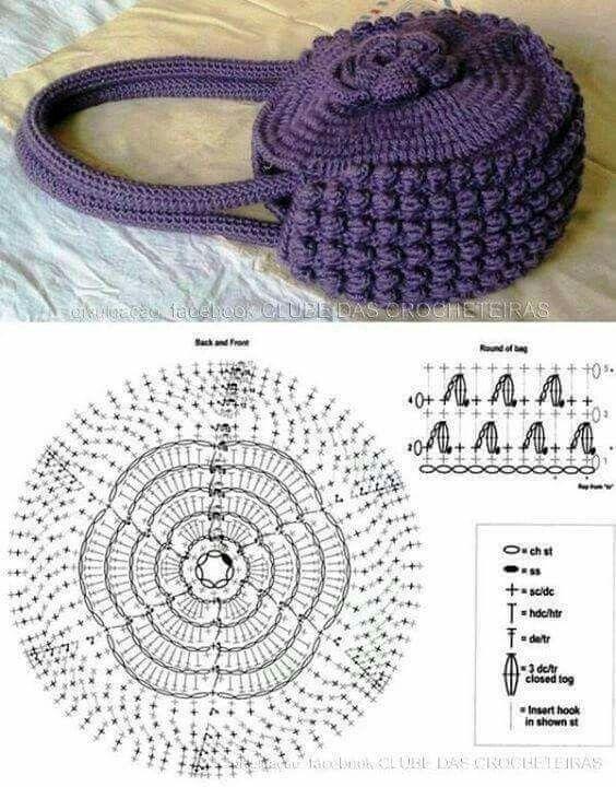 Pin von Nariman Aburish auf crochet Bags _ كروشيه حقائب | Pinterest