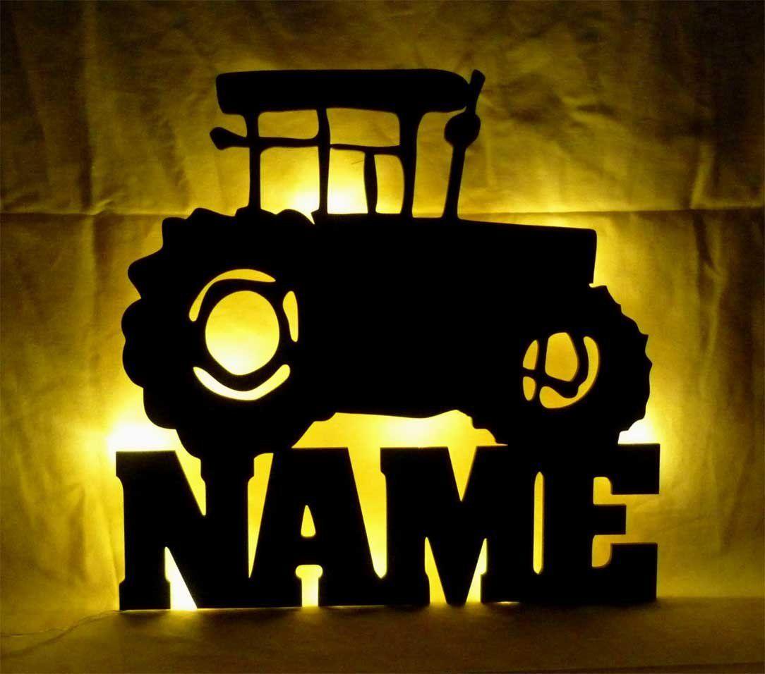 Traktor 3d Nachtlicht Fur Das Bauernhof Kinderzimmer Coole Wandlampe Mit Dem Eigenen Namen Lampe Kinder Lampen Geschenke Fur Madchen