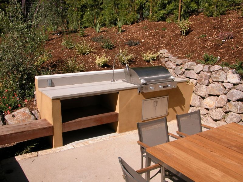 Easy outdoor kitchen ideas kitchen designs how to for Simple outdoor kitchen plans