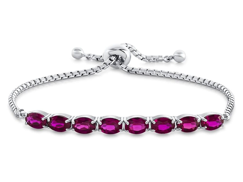 Dainty Amethyst Adjustable Slider Bracelet